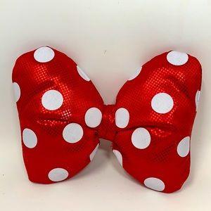Minnie Mouse head bow clip Disney polka dots